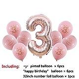 Comradesn Luftballons 1 2 3 4 5 6 7 8 9 Jahre Alles Gute Zum Geburtstag Ballon Kinder 1. Geburtstag Anzahl Folienballon Rosa Mädchen Blau Junge Party Dekoration 3st Rosa