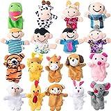Burattini delle Dita Set 18 Pezzi Zodiaco Cinese Cartoon Stile Animale e Burattini di Dito di Famiglia Diversi per Narrativa, Bambole delle Scuole