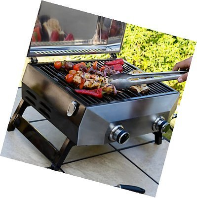 Generic dyhp-a10-code-6285-class-1 - Top BBQ Grill 48,3 cm Gas Tisch F Gri 2 Brenner 48,3 cm Gas 304 Grade ADE S Edelstahl ner 304 - -nv _ 1001006285-hp10-uk