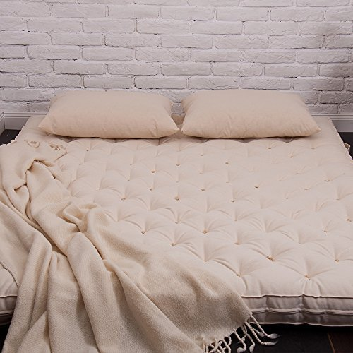 Handmade 100% Wool-filled Shikibuton/Twin, Single, Full or Queen Size /100% Pure New Wool Filling/OEKO-TEX Certified Materials/Non - Toxic Bedding/Custom Sizes & Shapes & Fabrics Available -