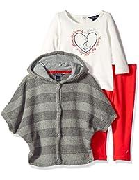 Nautica Baby Sweater Jacket Shirt and Legging
