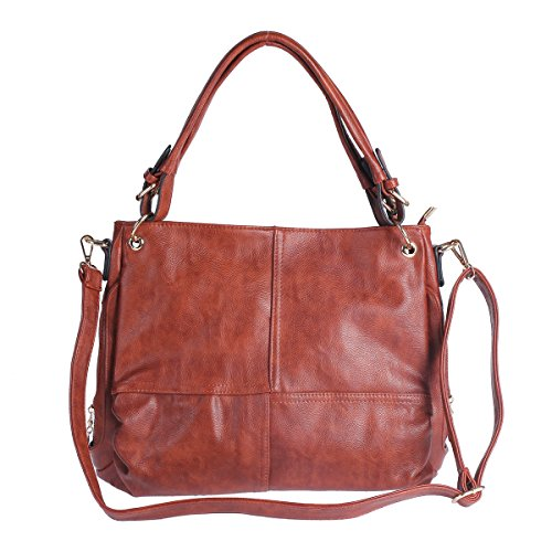 Damara-Womens-Practical-Genuine-Leather-Handbag-Zipper-Shoulder-Bag