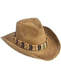 65e11c463d2 Gamble   Gunn Natural Straw Cowboy Hat with Beaded Trim