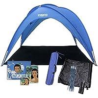 Toldo de playa antiUV, para 8 personas, lluvia y parasol, fácil de colocar: ¡Se tarda unos minutos en colocarlo!Refugio impermeable para festivales de parque y portón trasero en eventos deportivos