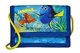 Geldbeutel mit Namen | personalisiert & Bedruckt | Motiv FINDET DORI | Geldbörse Kindergeldbeutel zum umhängen blau Fische Nemo | inkl. NAMENSDRUCK