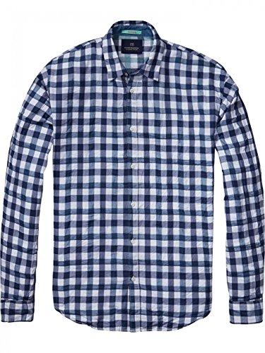 Scotch & Soda Herren Hemd Summer Shirt 16010320004 Mehrfarbig (Dessin C)