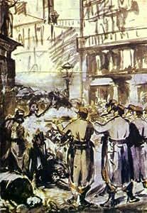 Reproduction 60 x 75cm - Edouard Manet - la barricade (guerre civile -