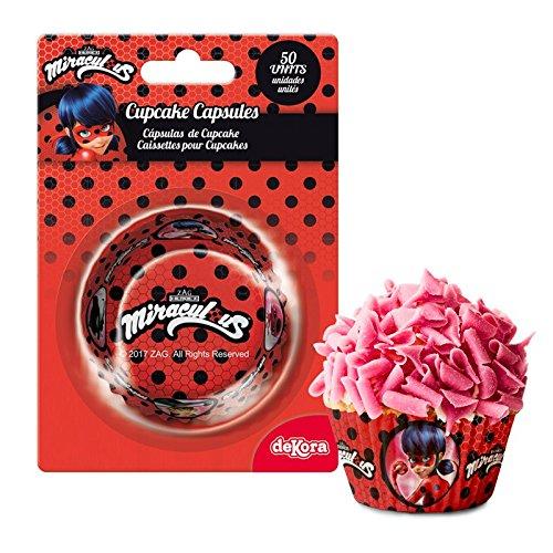 Generique - 50 Ladybug Cupcake Förmchen 5 cm