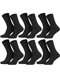 Tobeni 6-pack hommes chaussettes chaussettes diabetiques avec Spandex et bord doux sans caoutchouc