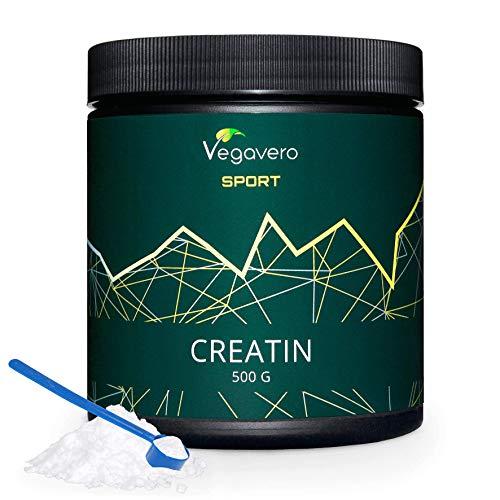 Creatina monoidrato in polvere vegavero® sport | 500 g con dosatore | pura e micronizzata | ottima solubilità | energia – crescita e definizione muscolare | 200 mesh | vegan