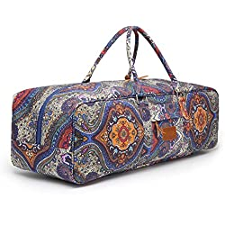 "Bolsa para esterilla de yoga, elenture 27""Durable suave grande lienzo duffl bolsa para esterilla de yoga, Yoga bloques, toalla de Yoga y otros accesorios, azul claro"