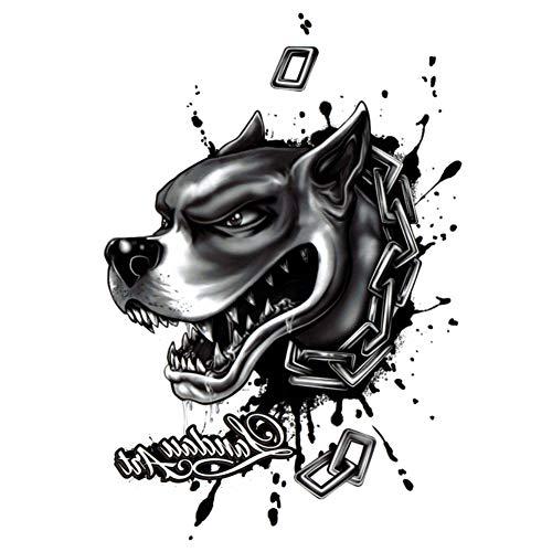 Just Fox – Tatuaje temporal, diseño de perro, tatuaje adhesivo temporal, arte...