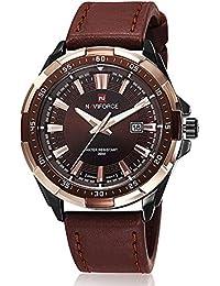 Neuf Montre Homme Montre bracelet cuir Quartz élégant montre homme hommes montres k386