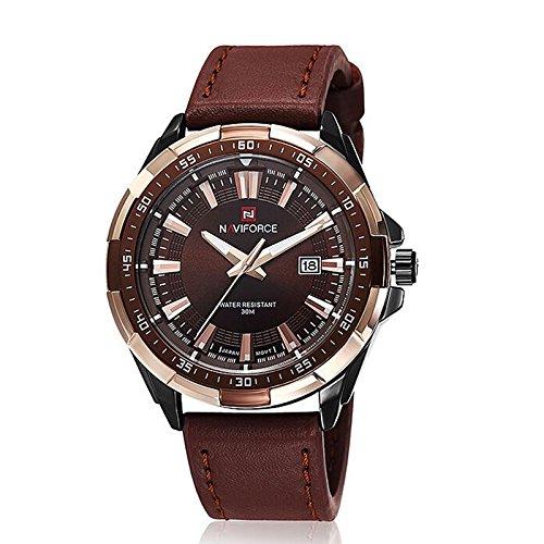 NEU-Herren-Uhr-Armbanduhr-Leder-Quarz-Elegant-Herrenuhr-Mnner-Uhren-K386