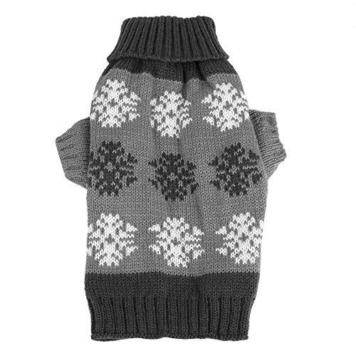 Schneeflocken Printed Strickpullover Winter Warm Christmas Kleidung Dekor(L-Grau) ()
