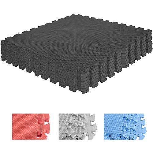 Schutzmatten-Set – GORILLA SPORTS 8 Puzzle-/Sport-Matten 60 x 60 cm, Bodenschutz in Schwarz