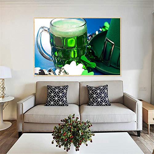 Leinwanddruck Lebensmittel Malerei Saft Traube Weingläser Getränke Bier Fass Küche Dekor Champagner Modern Print Wohnzimmer 50Cmx70Cm (Küche-dekor-trauben)
