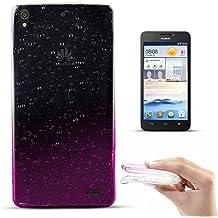 Zooky® Carcasa con gotas de lluvia ultra fina y suave de alta calidad TPU / funda para Huawei Ascend G630, Transparente / Rosa