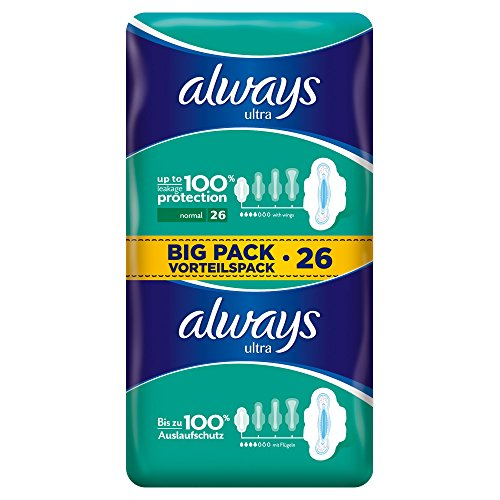 always-ultra-binden-normal-mit-fluegeln-vorteilspack-4er-pack-4-x-26-stueck
