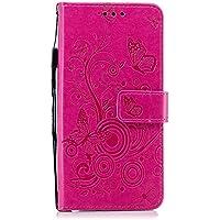 DENDICO Funda Xiaomi PocoPhone F1, Ultrafina Tipo Libro Piel Carcasa Cartera Plegable Case con Cierre Magnético para Xiaomi PocoPhone F1 - Rojo