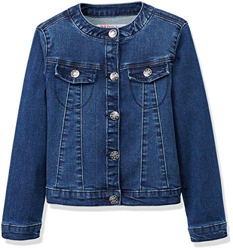 RED WAGON Mädchen Jacke Collarlessdenim Jacket, Blau (Multi), 116 (Herstellergröße: 6 Jahre) (Mädchen Jeans-jacke)