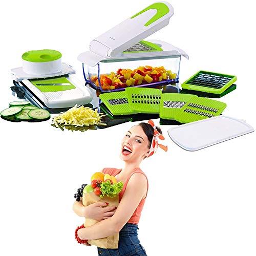 TrAdE shop Traesio TAGLIAVERDURE 7IN1 Frutta TRITA AFFETTA CASA Cucina Verdure Taglia Tutto LY_608