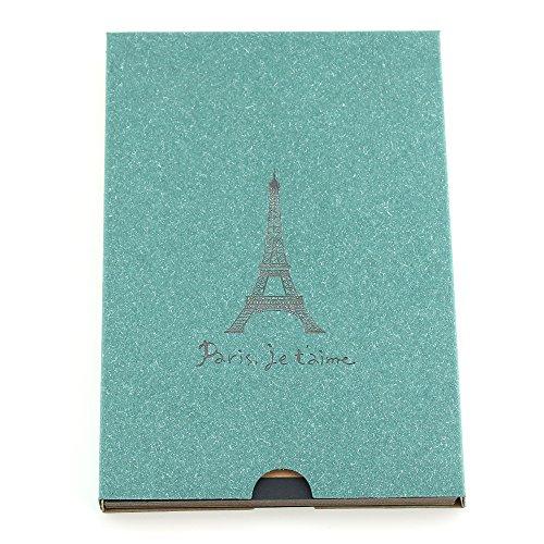 """álbum de scrapbooking, autoadhesivo álbum de fotos, libro de fotos/bloc de dibujo/libro de visitas vintage, regalo para cumpleaños, boda, aniversario, para hombres mujeres padres, """"Torre Eiffel de París"""" verde"""