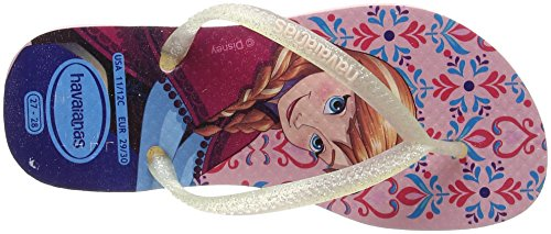 Havaianas Slim Frozen, Tongs  Fille Multicolore (Pearl Pink 6615)