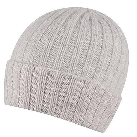 Reiner Kaschmir breiten Rib Beanie Hat hergestellt in Schottland... Gr.