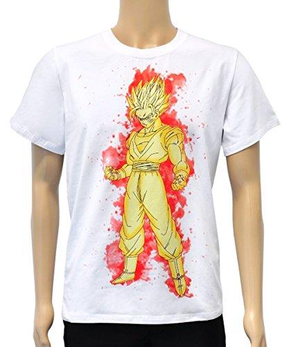 ll T Shirt, Motiv: Super Saiyajin, Größe: XL (Saiyajin Kostüm Halloween)
