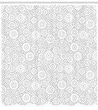 Abakuhaus Duschvorhang, Symbolistisch Minimalistisches Muster in Beigen Silber Schnee Farben Gekreiselt Druck, Blickdicht aus Stoff inkl. 12 Ringe für Das Badezimmer Waschbar, 175 X 200 cm
