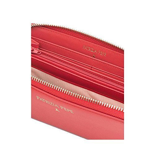 PATRIZIA PEPE WALLET ZIP AROUND 2V4879A2RB - K103 Nero matt red
