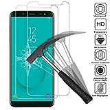 ANEWSIR Kompatibel mit Panzerglas Schutzfolie für Samsung Galaxy J6 2018, [2 Stück] [5,6 Zoll] [9H Härte] [Ultra Clear] [Anti-Bläschen] [Anti-Kratzen] Bildschirmschutzfolie Folie für Samsung J6 2018