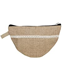 KS Women's Brown Jute Clutch (KS14)