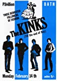 """The KINKS - 14 February 1966 Bath -reproduction Poster Size 11.7"""" x 16.5""""- 297mm x 420mm"""