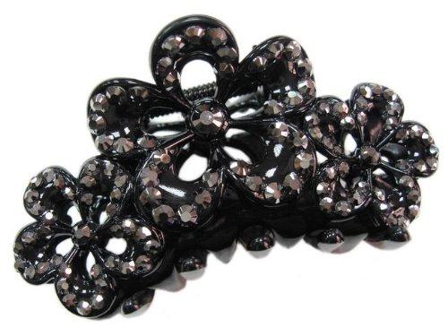 rougecaramel - Accessoires cheveux - Pince crabe acrylique - hématite