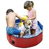 Fuloon Hunde Pool, Faltbarer Katzenpool Swimmingpool Planschbecken Schwimmbad Hundebadewanne PVC-rutschfest, Verschleißfest, Für Kinder Den Hund Katze