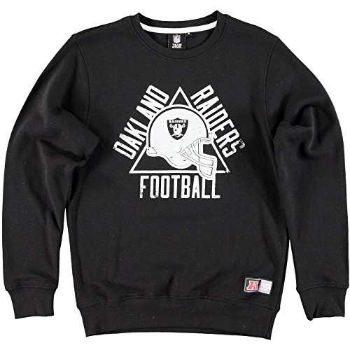MAJESTIC FELPA GIROCOLLO EDIFY GRAPHIC NFL RAIDERS NERO UOMO-XL