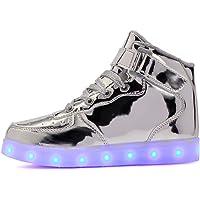 Vansney LED Scarpe Carica USB 7 Colori Lampeggiante Ragazzi e Ragazze, Un Regalo di Natale Correre di Notte Universale…