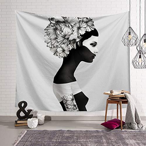 mmzki Fille Coeur Nordic Vert Chambre Décor Tissu Mur Tapisserie Couverture Murale Suspendus Tissu Fond LS-TBBK004 200x150