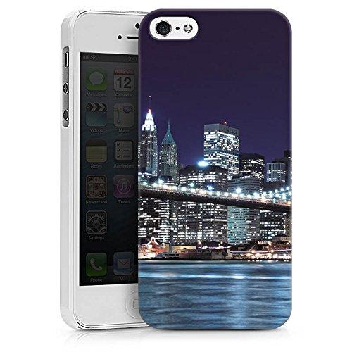 Apple iPhone X Tasche Hülle Flip Case Brooklyn Bridge New York Brücke Hard Case weiß