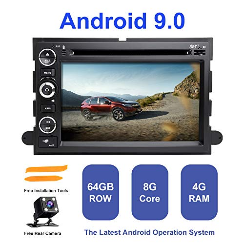 Android Autoradio Stereo, ZLTOOPA Für Ford F150 F350 F450 F550 F250 Fusion Expedition Mustang Explorer Rand Android 9,0 Octa Core 4G RAM 64G ROM HD Digitaler Multi-Touchscreen Auto Stereo GPS Radio