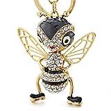 UDBOK llaveros Crystal Bee Llaveros Llaveros Esmalte Baratija Insectos creativos Llavero Cadena para Mujer...