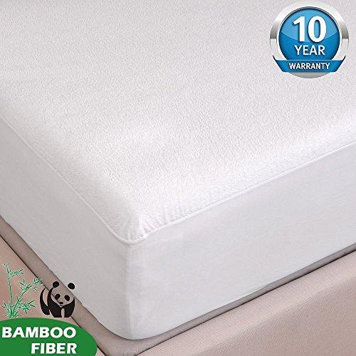 Tofern Protège Matelas Alèse Bambou 100% Imperméable Anti-acariens Antibactérien Respirant Ultra Doux Silencieux Résistant aux Lavages Forme Drap Houss