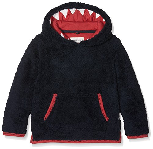 Shark Kinder Sweatshirt (Fat Face Jungen Sweatshirt Shark Hooded Fleece, Blue (Mid Navy Blu), 4-5 Jahre)