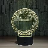 3D Lámpara de Escritorio,Luz de Noche Táctil Remota Luces de Ilusión LED , smile , touch