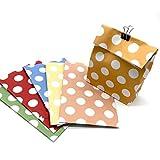 24 Bolsas de regalo coloridas y decorativas punteadas | Bolsas de papel ideales para la fiesta de...