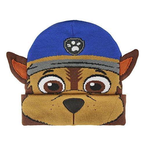 [Paw Patrol Chase - One size] Charaktere Cartoons - Hüt Mütze mit Maske für Jungen - (Cartoon Charakter Masken)