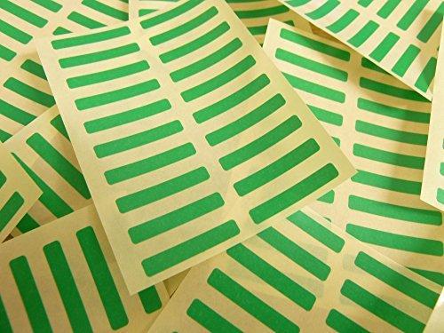 Pequeño 30x5mm Rectangular Código De color Pegatinas - Paquetes de 200 de color Rectangulo Etiquetas Adhesivas - 30 Colores Disponible - VERDE MEDIO