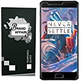 Brand Affairs Premium Quality [9h Hardness][HD Clear] Tempered Glass For One Plus 3T/One Plus 3/1+3T (Transparent)